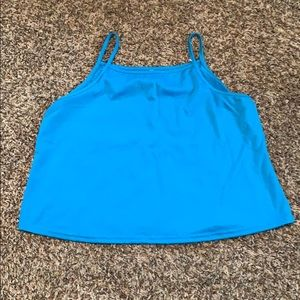 Tops - Blue crop top